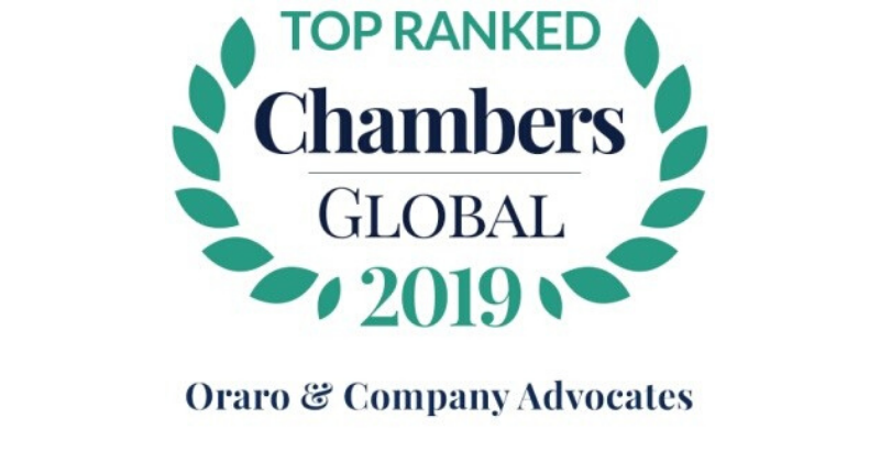 "Oraro & Company Advocates ""Top Ranked"" in the 2019 Edition of Chambers Global"
