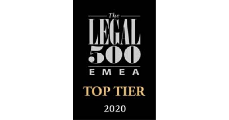 Oraro & Company Advocates Receives Top Rankings in the Legal 500 EMEA 2020