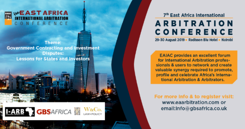 East Africa International Arbitration Conference – 2019