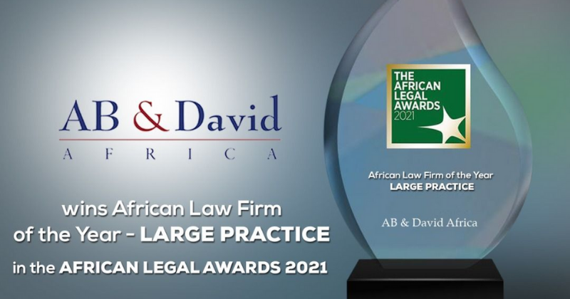 AB David Africa Wins the Africa Law Firm of the Year – Large Practice Award